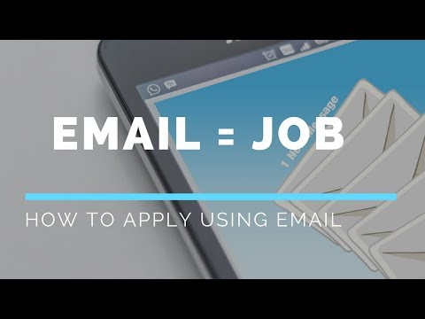 The correct way to apply for job using Email