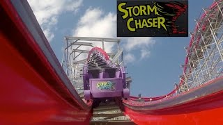 storm chaser 60fps pov kentucky kingdom new rmc roller coaster opening soon promo video hybrid