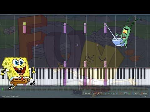 Spongebob - Fun - Easy - Piano tutorial