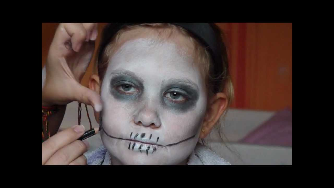 tutorial halloween kinderschminken mit saskia youtube. Black Bedroom Furniture Sets. Home Design Ideas