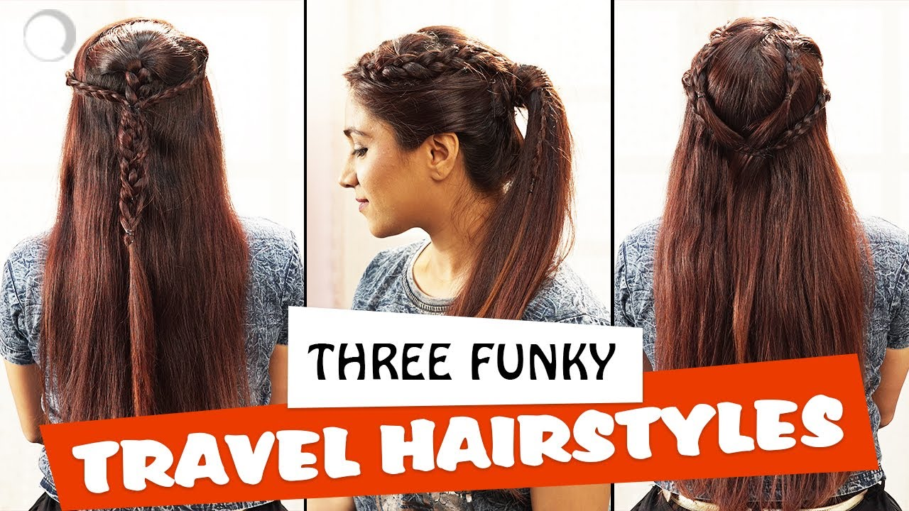 3 funky hairstyles for long hair | hairstyle tutorial