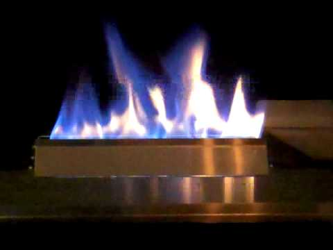 Ventless gas glass fire stainless steel fireplace and blue - Put out fire in fireplace ...