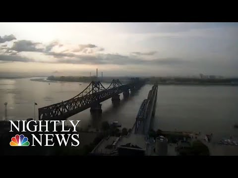 At China-North Korea Border, Business Carrying On As Usual Despite Sanctions | NBC Nightly News