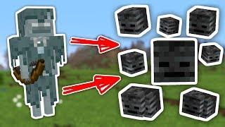 як зробити чорного скелета в майнкрафт