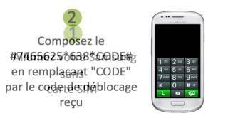 deblocage d`un téléphone portable Samsung Gravity S3 Mini
