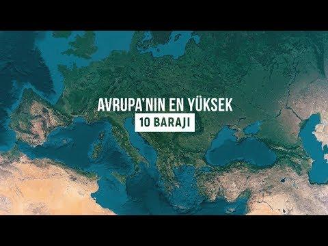 Avrupa'nın En Yüksek 10 Barajı - Aralarında Türkiye'den 2 Baraj Var.