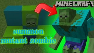 minecraft how to spawn a mutant zombie