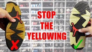 HOW TO STOP YELLOWING AND PRESERVE YOUR SNEAKERS