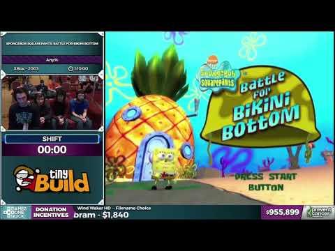 AGDQ 2017: SpongeBob SquarePants: Battle for Bikini Bottom Any% Speedrun and Interview