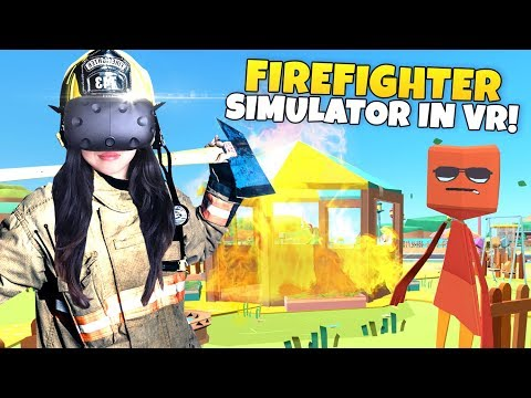 FIREFIGHTER SIMULATOR IN VR! | PaperVille Panic VR (HTC Vive Gameplay)