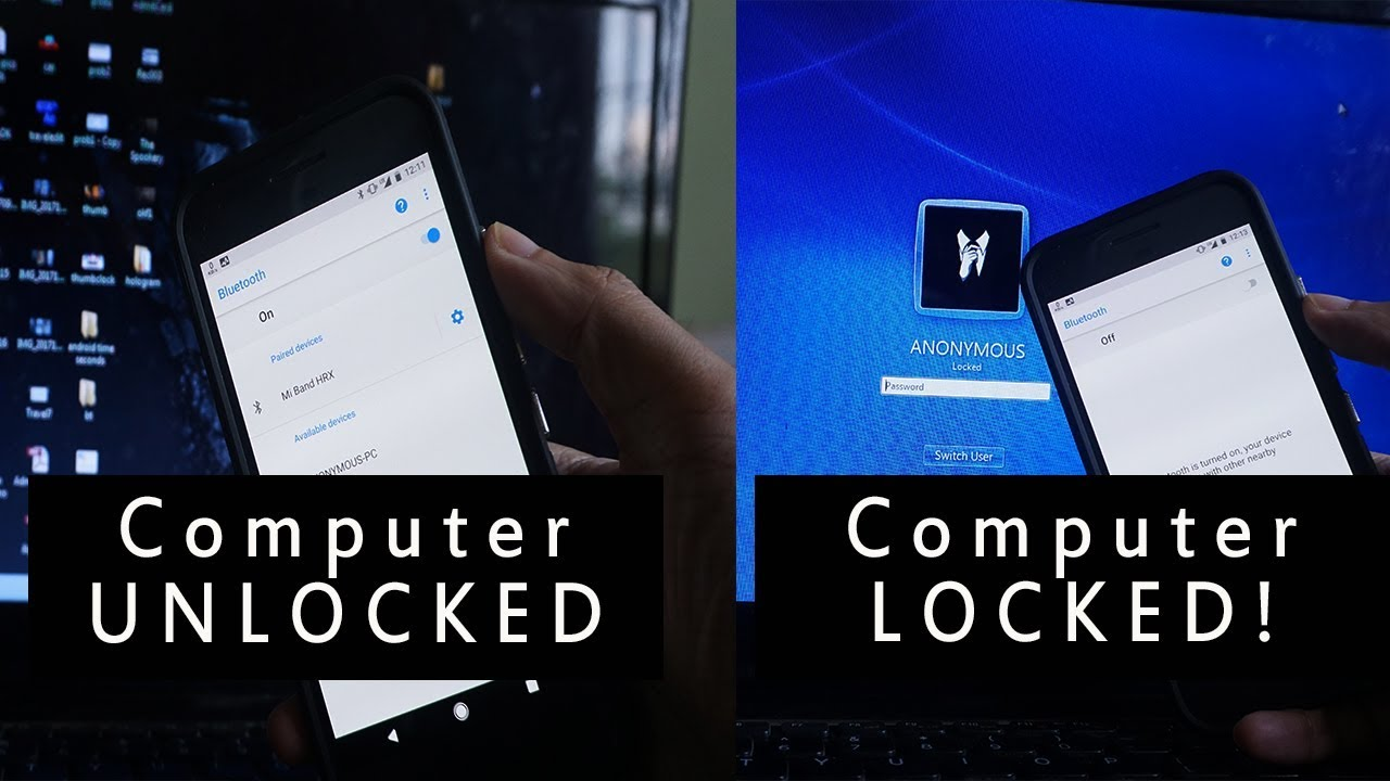 How to Lock your Computer  Laptop using your Phone  Tablet  YouTube