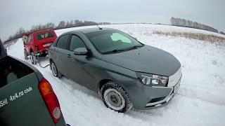 Land Rover, Нива 3D, Mitsubishi L200, Lada Vesta, Ваз 21099 тест-драйв по снегу #19. Часть 1