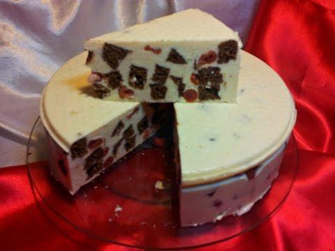 Творожный торт-суфле с вишней. Торт на скорую руку