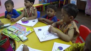 Drawing session in Nursery class (KKIP)