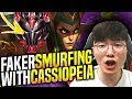 FAKER SMURFING WITH CASSIOPEIA IN HIGH ELO KOREA! - When Faker Picks Cassiopeia! | SKT T1 Replays