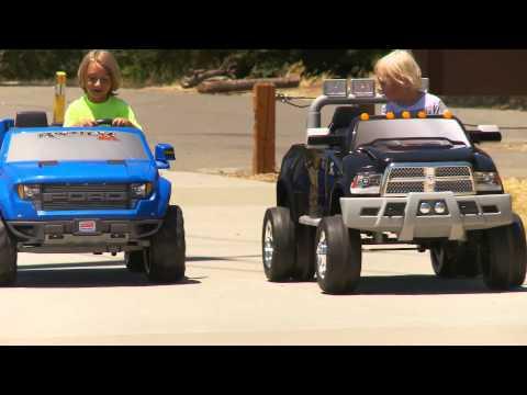 Power Wheels Truck Sidewalk Race