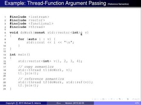 C++ Lecture Series --- Concurrency --- Part 2 of N --- Threads