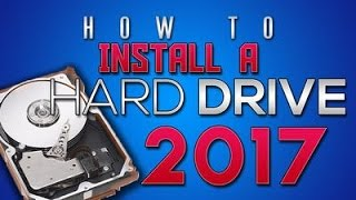 How to install a Harddrive 2017 - MarkyMark builds (SSD and HDD install)