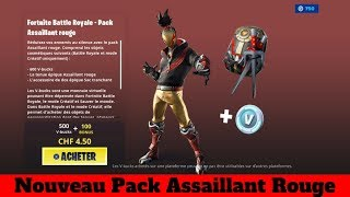 Fortnite New Red Assault Pack at 5 Euros - From The 50 Likes I buy The New Pack !!!