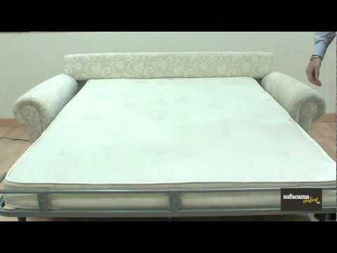 Sof cama de alt sima calidad modelo atenea youtube - Sofa cama clasico ...