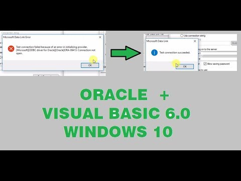 Solved | ADODC Connection in visual basic 6.0 with oracle database windo...