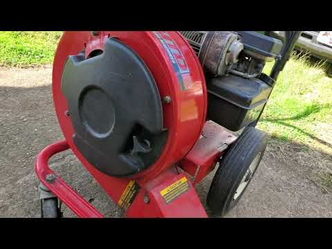 Yard Machines air sweeper walk behind blower