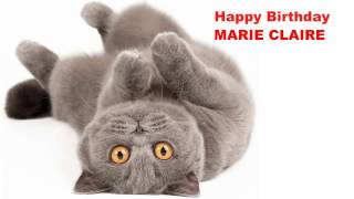 MarieClaire   Cats Gatos - Happy Birthday