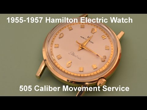 Hamilton Electric Watch tear down and service