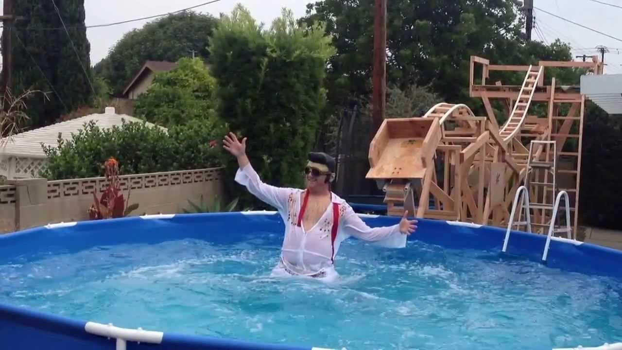 Elvis on My Backyard PVC Roller Coaster - YouTube