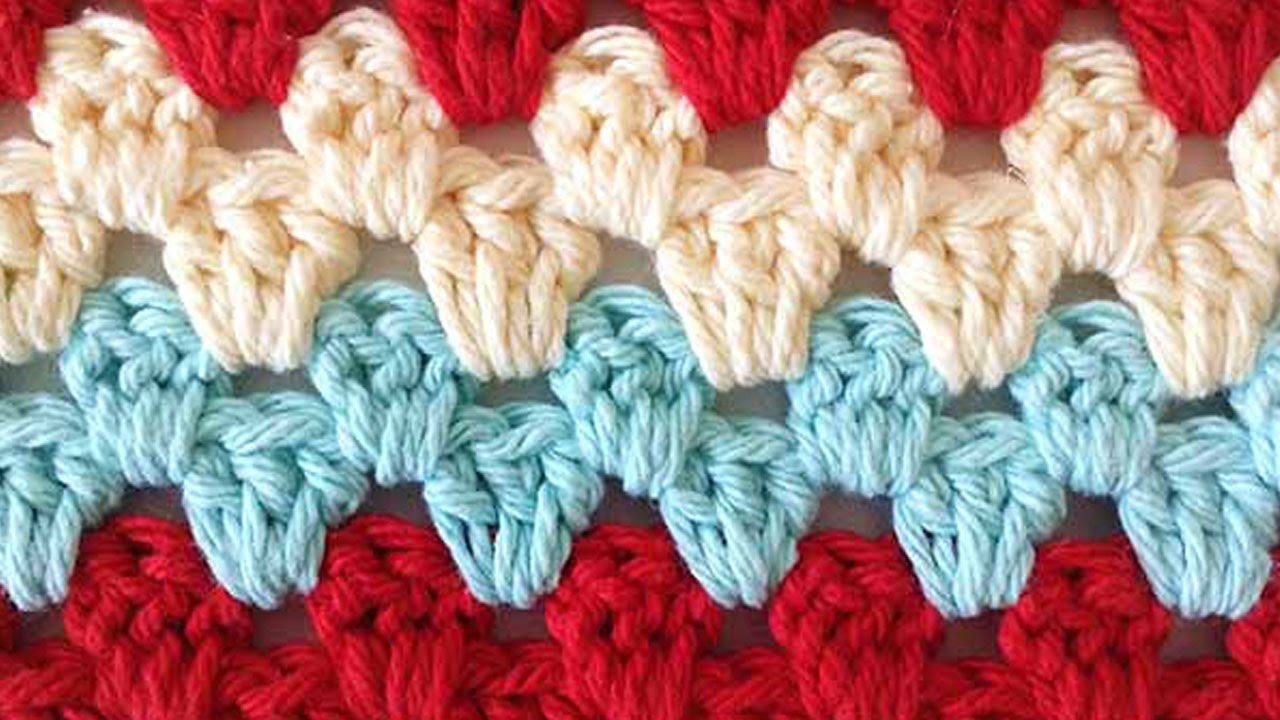 Stitch Repeat Granny Rows Free Crochet Pattern - Right Handed - YouTube