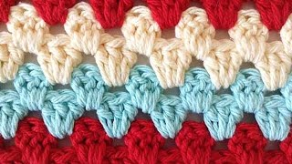 Stitch Repeat Granny Rows Free Crochet Pattern - Right Handed