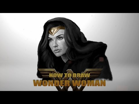 How To Draw Wonder Woman/Gal Gadot - Speed Painting and Music by Sean Henry