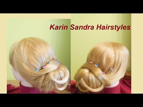 Wedding hairstyle tutorial | Low Chignon, Low Updo | Elegant bun | Bridal Prom for long  medium hair