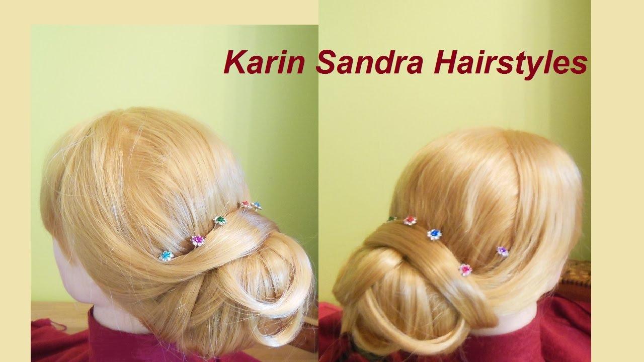 Wedding hairstyle tutorial   Low Chignon, Low Updo   Elegant bun ...