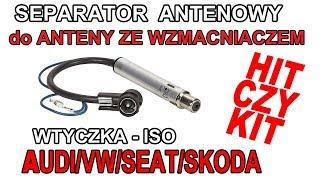 Jak zamontować Wzmacniacz separator antenowy za 6zł do VW Seat Skoda Audi/CZY TO DZIAŁA?HIT CZY KIT?