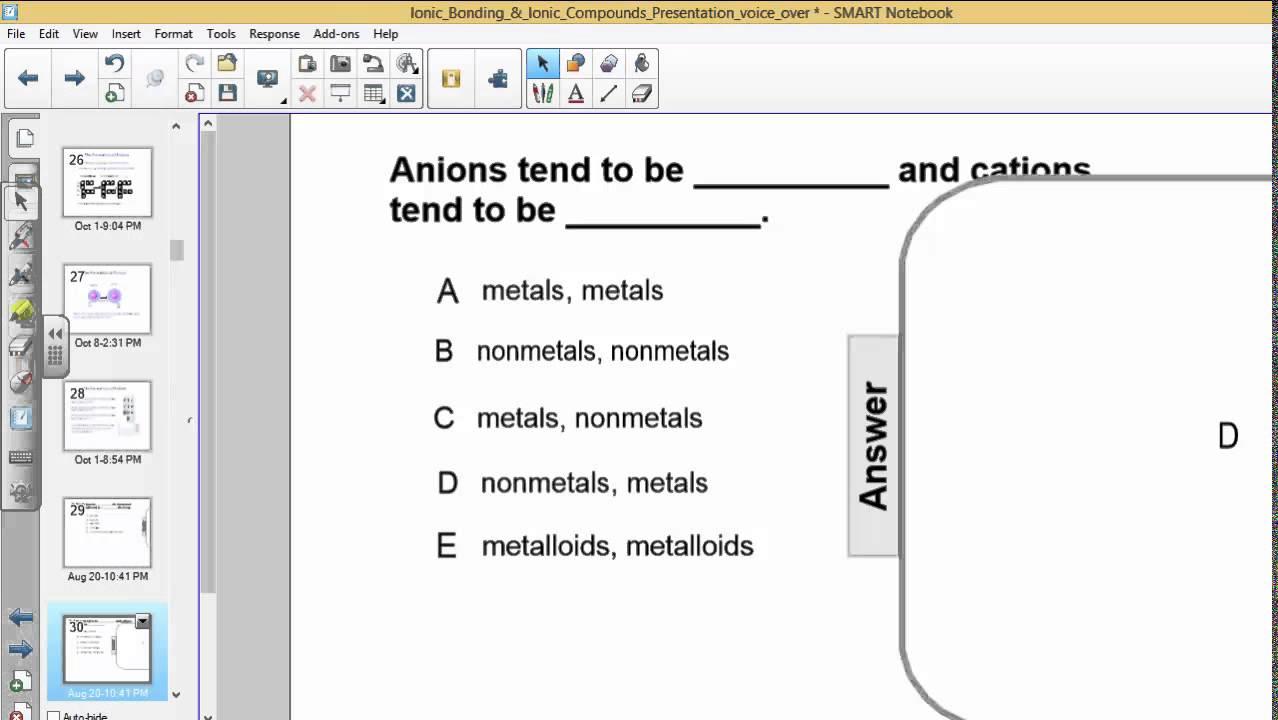 PSI Chemistry - Ionic Bonding - Q11