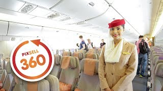 360 V DEO  Nside The Emirates Boeing 777 300 Amazing Luxury Jet Airliner