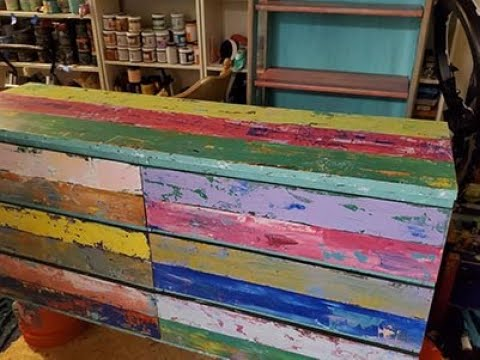 DIY Paint Faux Reclaimed Boat Wood - no distressing required