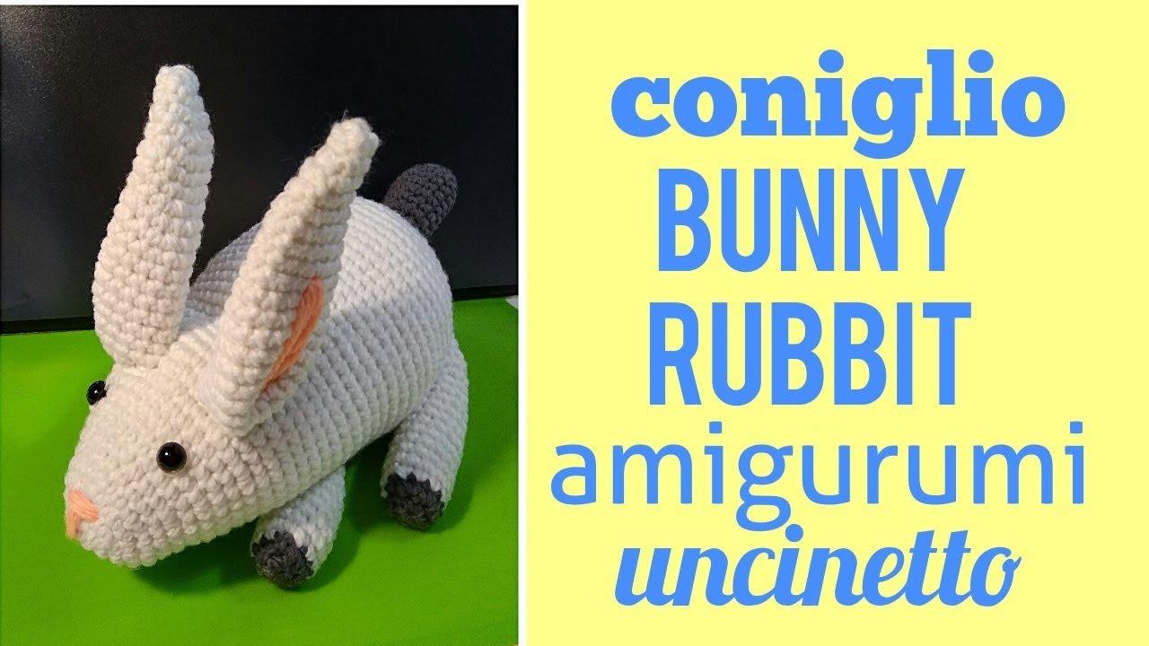 MaryJ Handmade: Coniglietto Amigurumi | How to crochet a sweet bunny | 720x1280