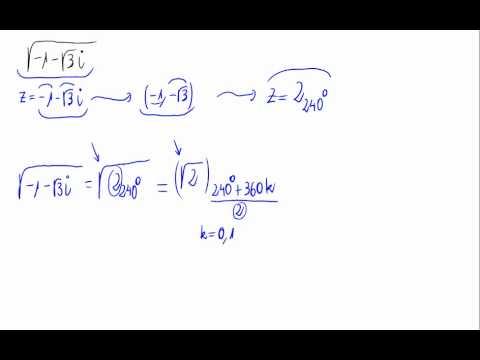 Raíz cuadrada de un número complejo - YouTube