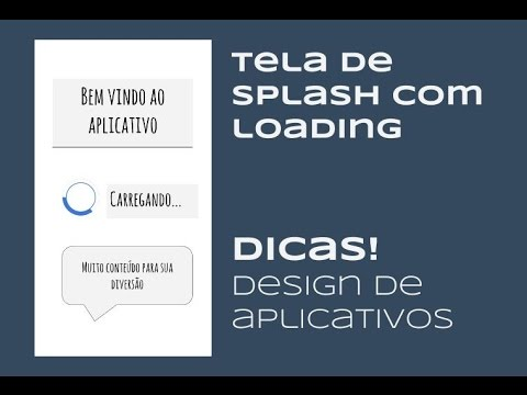 Tela de Splash com loading