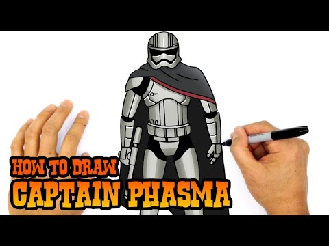 How to Draw Captain Phasma | Star Wars