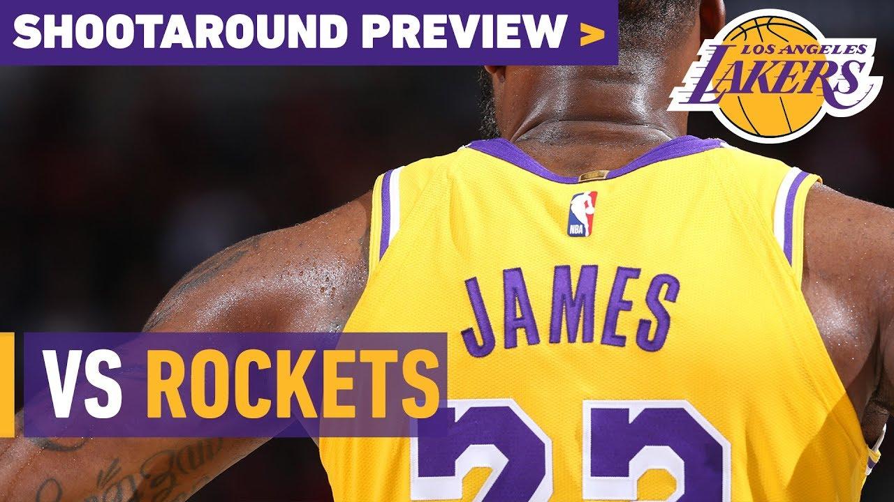 Shootaround Preview  Rockets (10 20 18). Los Angeles Lakers eeb5b2dcd