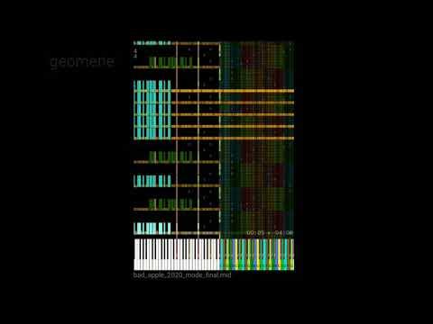 BAD_APPLE 2020 Midi Song 200.000+ нот