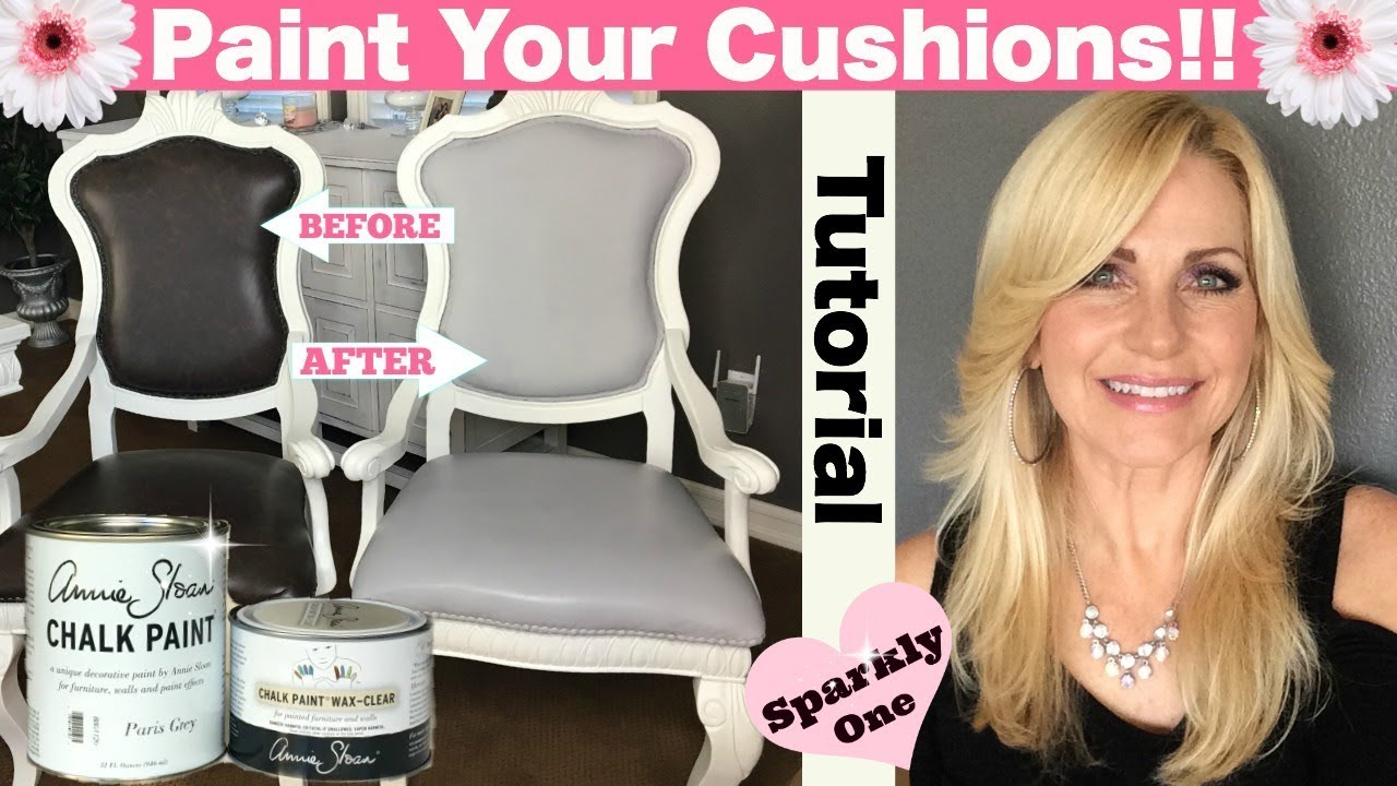Annie Sloan Chalk Paint Tutorial   Painting Vinyl Seats For Dining Room  Chairs