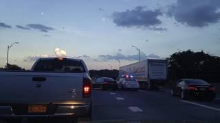 Multiple car crash by the Whitestone Bridge Queens-Bronx,New York