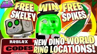 SKELEY PET & SPIKES GIVEAWAY ! NEW GREEN & YELLOW RING LOCATIONS 👻 Roblox Ghost Simulator ALL CODES