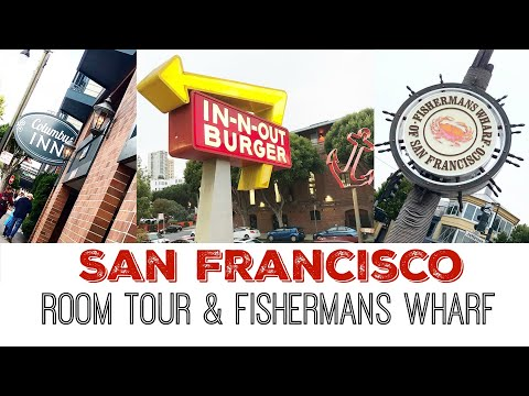 TRAVEL DAY | Arriving In San Francisco | Columbus Motor Inn Room Tour | Fishermans Wharf