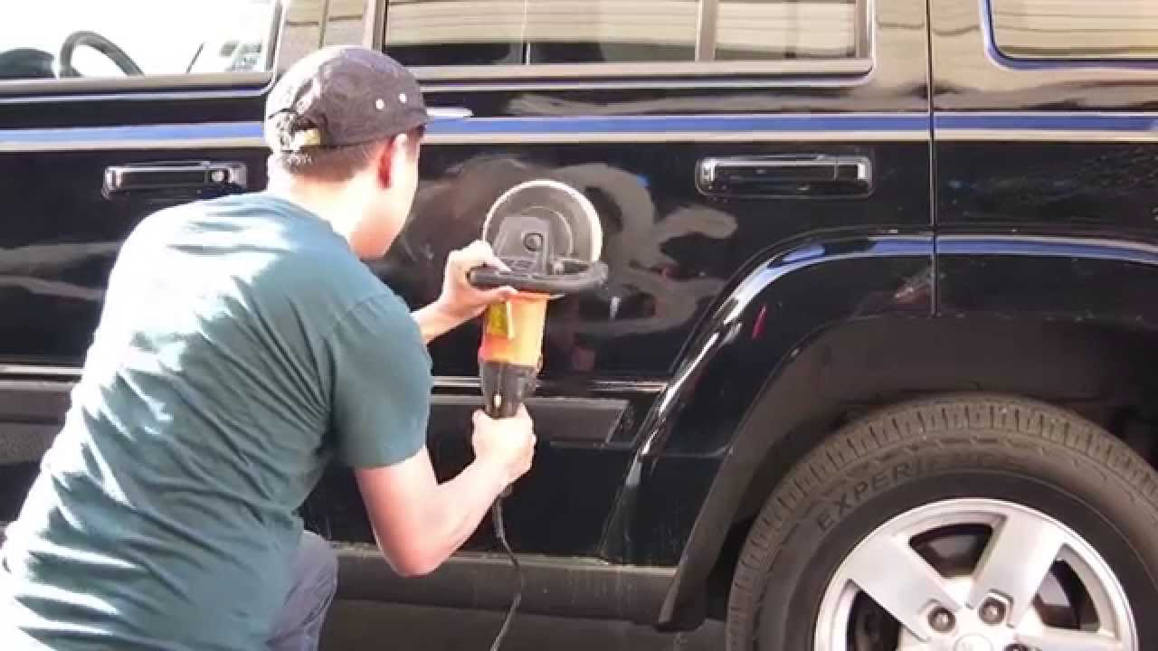Fix Key Scratches Off A Black Car - YouTube
