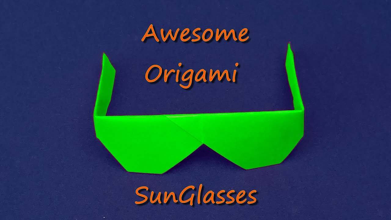 awesome sunglasses  Awesome Origami Sunglasses. How to fold Origami Sunglasses - YouTube